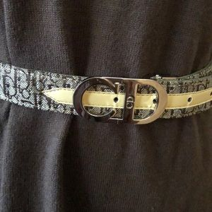Vintage Christian Dior monogram logo belt